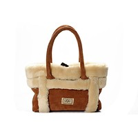 UGG Women Tote Soft Nap Fur Satchel Shoulder Bag