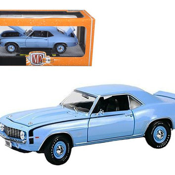 1969 Chevrolet Camaro SS 396 Azure Turquoise Metallic 1-24 Diecast Car Model by M2 Machines
