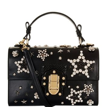 Dolce & Gabbana Lucia Embellished Shoulder Bag | Harrods.com