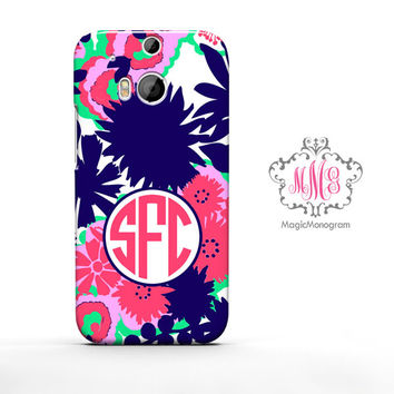 Multi Secret Garden Lilly Pulitzer Monogram HTC Case M9, M8 Case