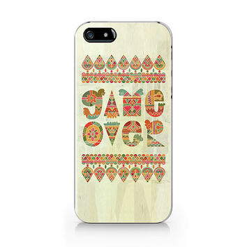 Game over, text phone case, iPhone 5 5S case, iPhone 4 4S case, Free shipping