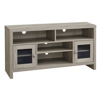 "Tv Stand - 48""L / Dark Taupe With Glass Doors"