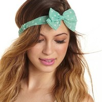 Polka Dot Bow Headwrap: Charlotte Russe