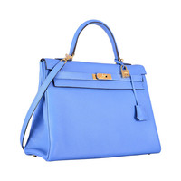MY NEW FAVE COLOR EVER! HERMES KELLY 35cm KELLY BLUE PARADISE TOGO GHW!