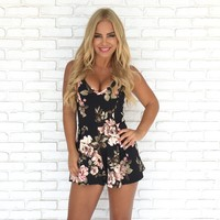 For Love and Lace Floral Romper