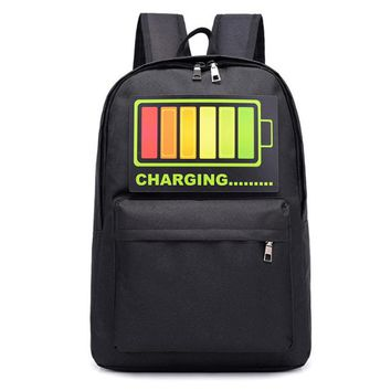 Cool Backpack school 2018 New Popular School Bags Colorful Voice Control Luminous Backpack High School Student Boys Girls Cool Travel Backpacks AT_52_3