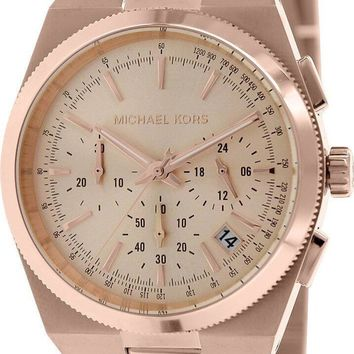 Michael Kors MK5927 Channing Mid Chronograph Women Rose Gold SS Watch