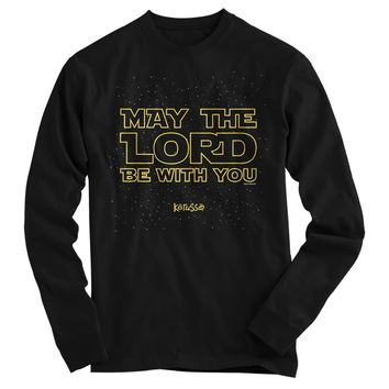 Kerruso May the Lord Be With You Star Cherished Wars Christian Bright Long Sleeve T Shirt