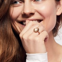 Free People 24K Heart Lighter Quartz Ring