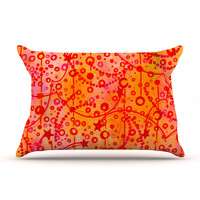 "Ebi Emporium ""Make A Wish"" Orange Red Pillow Sham"