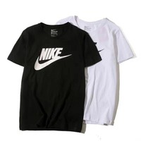 Nike hook cotton printed short sleeved men's and women's casual t-shirts