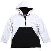 Reflective Sports Pullover Jacket White
