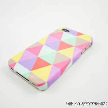Pastel Geometric Triangle iPhone 4 Case iPhone 4s by happyrabbitz