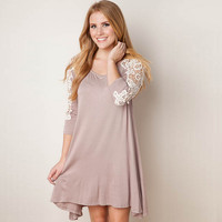 Lace Sleeve Mini Dress