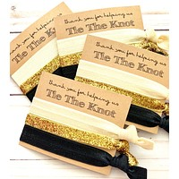 Bridesmaid Gift Hair Ties   Thank you for helping us tie the knot    Wedding Favors