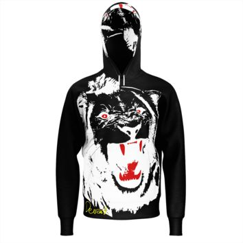 White Lion Men's Black French Terry Hoodie