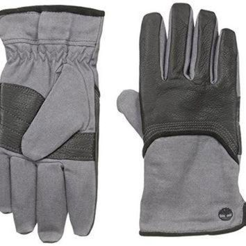 MDIG1O Timberland Men's Wax Canvas and Deerskin Glove, Black, Large