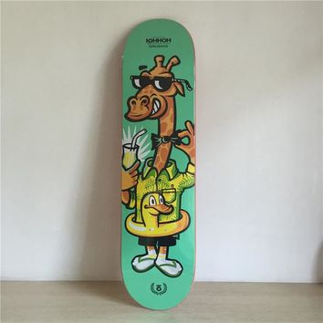 "Roma Ivanov 8"" Canadian Maple Green Skateboard Deck"