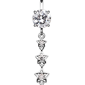 Stars to the Moon Belly Button Ring