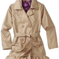 Pink Platinum Girls 7-16 Solid Trench Coat