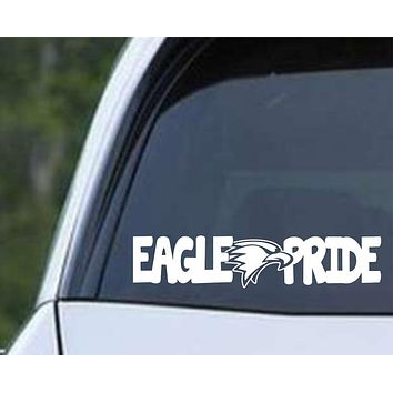 Eagle Pride Mascot Die Cut Vinyl Decal Sticker