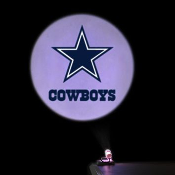 Welcome Projection Door light NFL Dallas Cowboys Advertising lamps spotlight Replaceable Film Support Custom Bedroom Night light