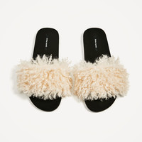 FAUX FUR SLIDES DETAILS