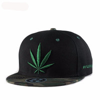New Fashion Caps Reggae Hip Hop Cap Embroidery From Flat Hat Dancer Streetwear Embroidered Baseball Cap