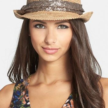 Women's Phase 3 Sequin Trim Fedora