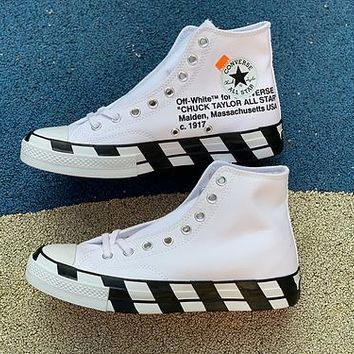 OFF WHITE x CONVERSE Joint High-top canvas shoes cfe6d58cd