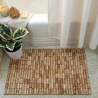 Wine cork bath mat - Crafty Nest