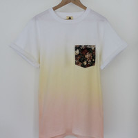 ANDCLOTHING — Floral Ice Cream Dip Dye Tee <em>SOLD OUT</em>