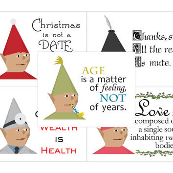 Runescape Gnome Child Printables Five Card Bundle