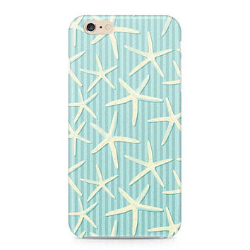 Starfish Phone Case, Ocean Themed Phone Case, Sea Stars Phone Case, Teal Phone Case, iPhone 8, Samsung Galaxy S8