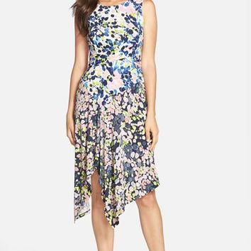 Women's BCBGMAXAZRIA 'Ezra' Mixed Print Midi Dress