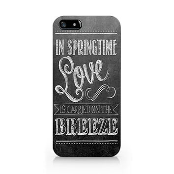 Text phone case, in springtime love  iPhone 5 5S case, iPhone 4 4S case, Free shipping D234