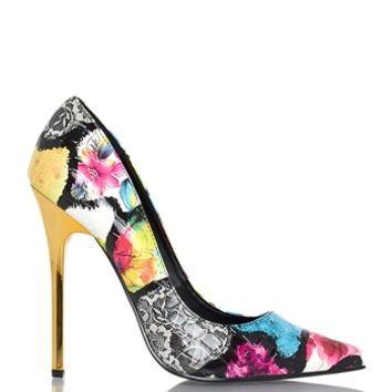 Privileged Verge Floral Heels - Multi from Privileged Shoes at ShopRoxx.com