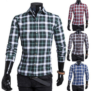 Classics Simple Design Casual Men Korean Fashion Shirt [6542529795]