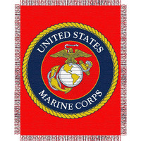 USMC Triple Woven Jacquard Throw (48x60)