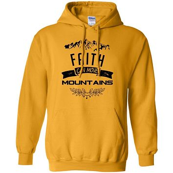 "Christian Hoodies - ""Faith Can Move Mountains"""
