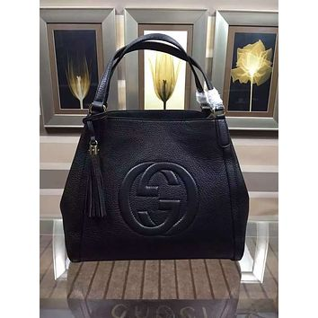 GUCCI WOMEN'S LEATHER HANDBAG SHOULDER BAG