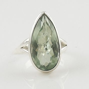 Praisiolite Sterling Silver Solitaire Ring