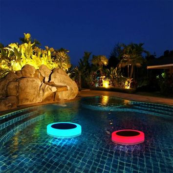 Solar Light RGB LED Underwater Light Solar Power Pond Outdoor Swimming Pool Floating Waterproof Decorative LED Light With Remote