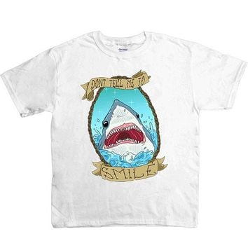 Don't Tell Me To Smile Shark -- Youth/Toddler T-Shirt
