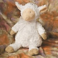 Mary Meyer Inspirational God Bless Baby Musical Sleepy Lamb Plush Toy, White