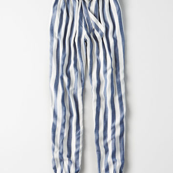 AE Belted Soft Jogger Pant, Blue