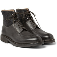 Heschung - Gingko Leather and Wool Boots | MR PORTER
