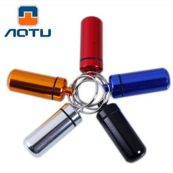 ONETOW 6 Pcs/set Outdoor Camping Survival Capsule Aluminum Medicine Bottle Travel First Aid Medicine Bottle Allergy Pills Mini Bottle