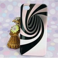 cute whirlpool vortex pink stripe case iphone4/4s