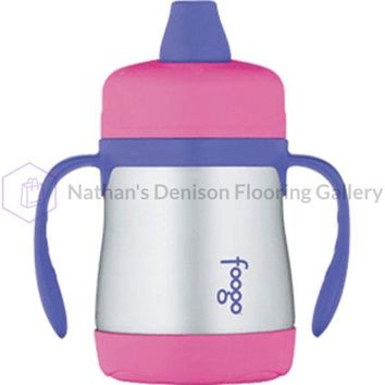 Thermos Foogo Vacuum Insulated Soft Spout Sippy Cup - 7oz - Pink